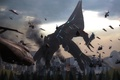 Picture war, Reaper, art, helicopter, mass effect, helicopter, the reapers, fan