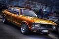 Picture Ford, retro, FORD CONSUL V6 FLIK FLAK, hdr, orange