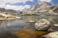 Picture the sky, mountains, river, stones, Wyoming, Bridger National Forest, Lower Titcomb Basin, mountain