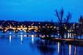 Picture Czech Republic, Prague, twilight, reflection, lights, dusk, Charles Bridge, blue hour, Vltava River