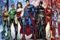 Picture Wonder Woman, Batman, Superman, dc comics, Cyborg, Flash, Aquaman, Green lantern, Justice league