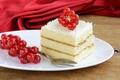 Picture sweets, cake, dessert, red, sweet, white, glaze, berries, cake, chocolate