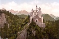 Picture mountains, forest, castle