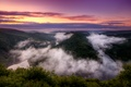 Picture river, the evening, lilac, orange, bending, river, clouds, height, bright, Germany, Germany, panorama, Saar, Saar, ...