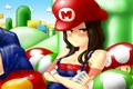 Picture girl, sexy, game, mario bross