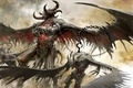 Picture wings, chain, horns, Guild Wars 2, demons, hook