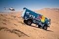 Picture KAMAZ, 501, The descent, Sand, Dune, Machine, Auto, Side view, Blue, Helicopter, Rally, KAMAZ, Dakar, ...