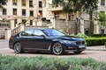 Picture lawn, BMW, track, fountain, mansion, the bushes, 730d