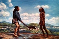 Picture figure, The last of the Mohicans, the fight, the sky, rocks, the Indians, clouds
