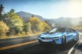 Picture Skid, Mountain, Car, Drifting, Beam, Blue, Sun, Sport, Road, Serpentine, BMW