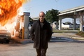 Picture sugoi, strong, muscular, public telephone, Jason Statham, assassin, gas station, sunglasses, 2015, jacket, Mechanic, flame, ...