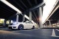Picture Mercedes-Benz, Power, AMG, Bridge, Street, Sedan, White, Road, C63, Wheels, Tuning, Mercedes
