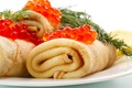 Picture pancakes, caviar, food, cakes
