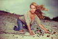 Picture Brian Storey, photography, sand, girl, photographer, girl, jeans, photographer, Brielle