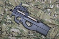 Picture weapons, FN P90, the gun, camouflage