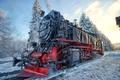 Picture winter, snow, landscape, the engine, semaphore