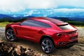 Picture machine, SUV, the concept, red, Lamborghini Urus