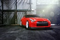 Picture GTR, red, Nissan, wheels, front, vossen