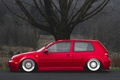 Picture red, tuning, volkswagen, profile, red, Golf, golf, Volkswagen, stance, MK4
