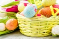 Picture flowers, Tulip, eggs, Easter, basket