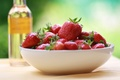 Picture red, background, widescreen, Wallpaper, food, strawberry, berry, plate, wallpaper, widescreen, background, full screen, HD wallpapers, ...
