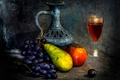 Picture pitcher, wine, fruit, The empty vessel