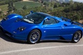 Picture supercars, background, the front, Pagani, Probe, Pagani, blue, Zonda