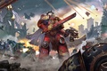 Picture weapons, ships, explosions, Eternal Crusade, battle, sword, armor, Warhammer 4000