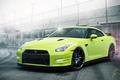 Picture Car, Track, Color, Haze, Green, Sport, Nissan, GT-R, R35