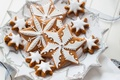 Picture New Year, holidays, winter, cookies, glaze, plate, stars, New Year, Christmas, Christmas, Christmas, stars