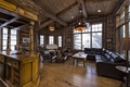 Picture wooden, living room, luxury, colorado, blue sky lodge