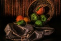 Picture lemon, apples, oranges, Fruit basket
