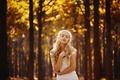 Picture autumn, girl, natural light, Autumn portrait