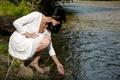 Picture Megan E, river, dress, nature