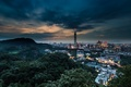 Picture mountains, lighting, China, Taipei, the city, lights, the evening, tower, twilight, Taiwan, hills, building, height, ...