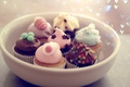 Picture cakes, holiday, mood, dessert, food, plate