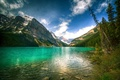 Picture Banff, Louise, mountains, nature, lake, the sky, Canada, landscape