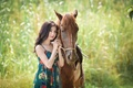 Picture summer, face, background, horse, Asian