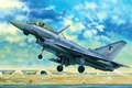 Picture art, airplane, painting, aviation, jet, Eurofighter Typhoon