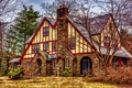 Picture design, American Tudor, mansion, the city, house, photo, HDR, USA