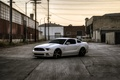 Picture white, cracked, posts, building, mustang, Mustang, white, ford, Ford, Beaton
