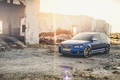 Picture the sun, rays, Audi, Audi, Tuning, Blue