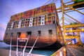 Picture Crane, MSC Savona, Utah, Feed, Cables, Pier, Terminal, The ship, A container ship, The evening