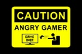 Picture game over, warning, joystick, sign, Caution