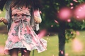 Picture girl, style, background, movement, tree, widescreen, Wallpaper, mood, clothing, blur, dress, brunette, wallpaper, widescreen, background, ...