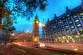 Picture road, night, lights, London, london, Big Ben at Dusk