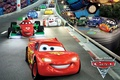 Picture lightning, pixar, track, sports cars, Cars 2, cars 2
