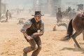 Picture gunslinger, wallpaper, The Magnificent Seven, farowest, shooting, rifle, Winchester, hat, 4k, equine, Colt, mouth, cinema, ...