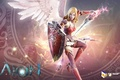Picture girl, aion, angel s mechom i schitom