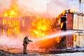 Picture destruction, Firefighter, fire